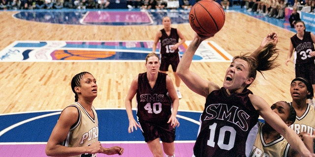 Jackie Stiles was among the best players in the nation in the early 2000s. (Jamie Schwaberow/NCAA Photos via Getty Images)