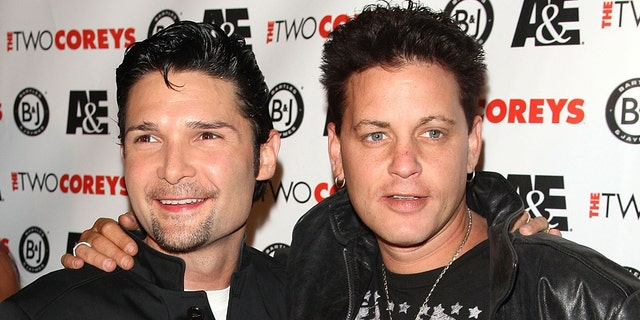 Corey Feldman, left, and Corey Haim attend the A&E Premiere Of 'The Two Coreys' held at Sugar nightclub on July 27, 2007 in Hollywood, Calif. (Photo by Frazer Harrison/Getty Images)
