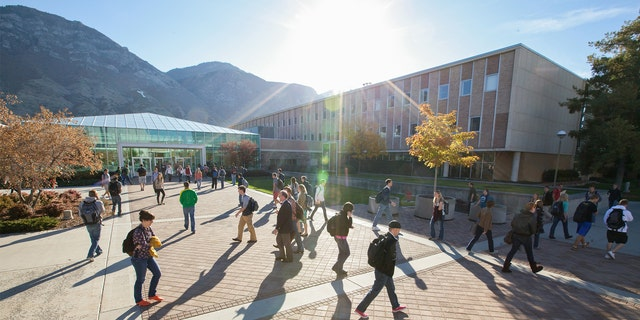 The campus of Brigham Young University in Provo, Utah.