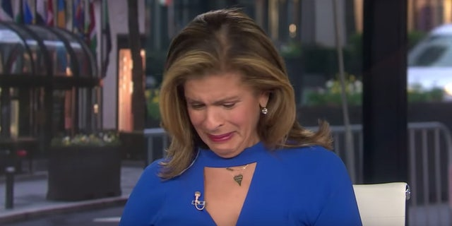 Hoda Kotb commended Drew Brees for his $5 million donation to the state of Louisiana before breaking down into tears.