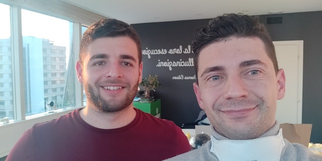 Engineer Romaioli and CEO Fracassi in their Brescia office.