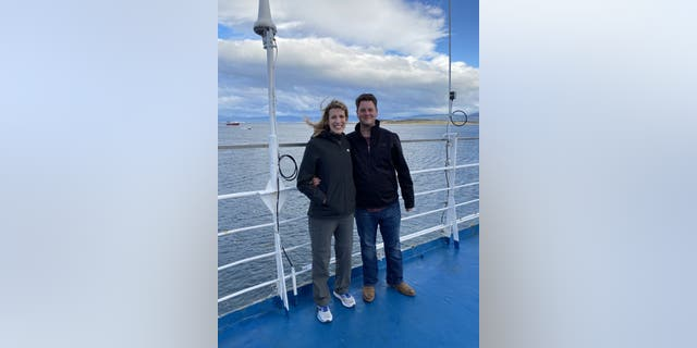 Sam Aitken and wife Marisa were on a cruise for their honeymoon when the coronavirus pandemic shut down most international travel.