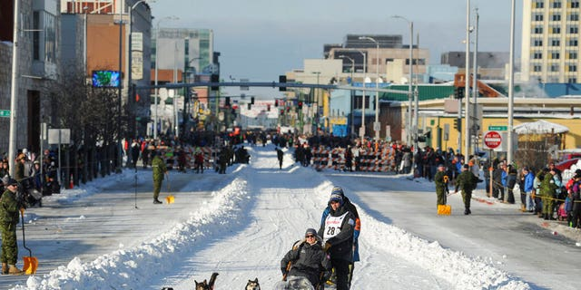 The 2021 Iditarod is set to begin on Saturday, but the multi-day sled dog race across Alaska has some major changes planned this year because of the COVID-19 pandemic. (AP Photo/Michael Dinneen, File)