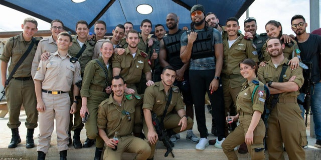 Two NFL players trained with Israeli soldiers on Thursday as part of an introduction to the country's military drills. (Photos courtesy of IDF)