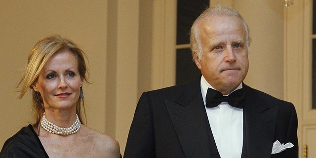 James and Sara Biden arrive at the White House to attend the State Dinner for South Korea, Oct. 13, 2011, in Washington. (AP Photo/Haraz N. Ghanbari)