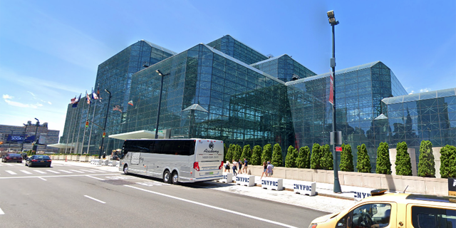 The Jacob K. Javits Convention Center in Hell's Kitchen. The convention center is considered one of the busiest in the USA.