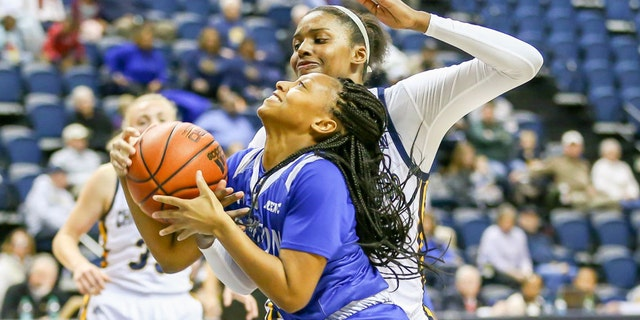 Jephany Brown led Hampton to a MEAC title in 2017. (Photo by Frank Mattia/Icon Sportswire via Getty Images)