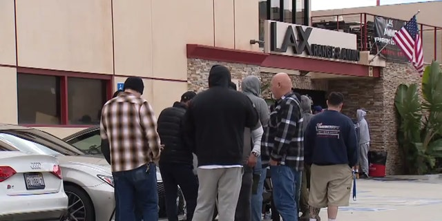 Gun stores have seen long lines as fears as grown over the coronavirus pandemic.