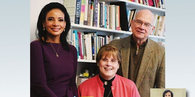 Lauren Green, Fox News chief religion correspondent, with Dr. Timothy Keller and his wife, Kathy.