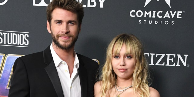 "Miley Cyrus and Liam Hemsworth arrives at the World Premiere of Walt Disney Studios Motion Pictures ""Avengers: Endgame"""