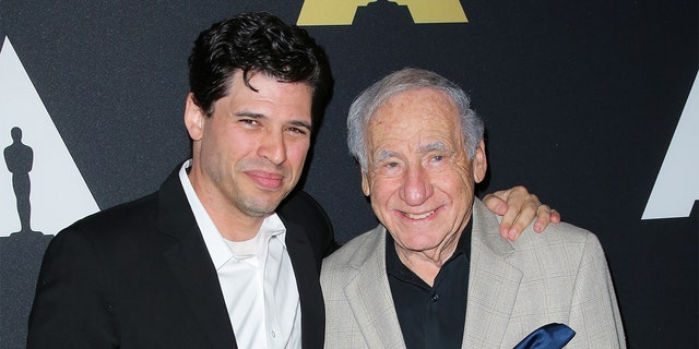 Max Brooks and Mel Brooks attend the 20th anniversary screening of 'The Shawshank Redemption' at the AMPAS Samuel Goldwyn Theater on November 18, 2014 in Beverly Hills, Calif.