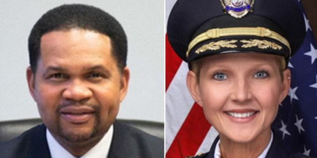 Aurora, Illinois, mayor Richard Irvin and Aurora Police Chief Kristen Ziman.