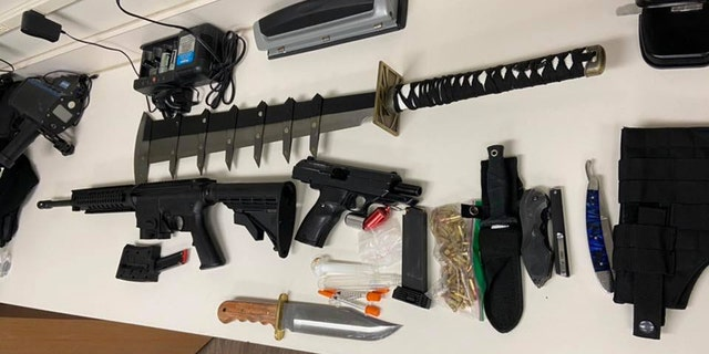 """Atraffic stop in Michigan led to the seizure of a weapons cache including the """"Ancient Sword of the Meth King."""""""