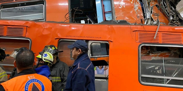 Several people were injured after two subway trains collided in Mexico City.