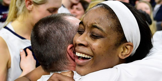 Michelle Nwokedi helped Penn to an Ivy League tournament championship. (Photo by Corey Perrine/Getty Images)