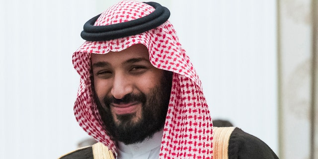 Saudi Crown Prince Mohammed bin Salman (MBS) is seen in Moscow, May 30, 2017. Saudi Arabia has pledged a total of $500 million to various organizations to help fight the coronavirus. (Associated Press)