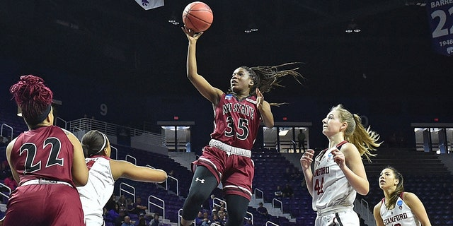 Moriah Mack led New Mexico State to a WAC title in 2017. (Photo by Peter G. Aiken/Getty Images)