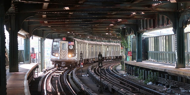 An F train pulls into the W. 8th Street subway station at Coney Island in Brooklyn on Sept. 15, 2019, in New York City.