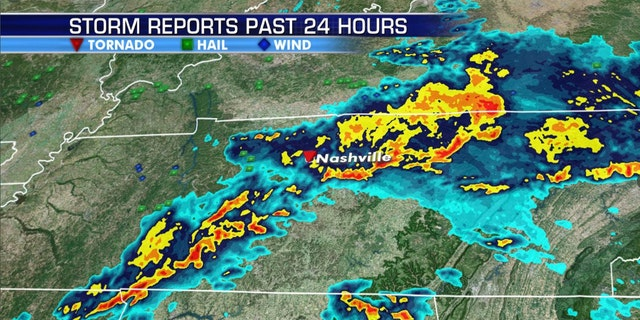 The tornado ripped through parts of Nashville early Tuesday.