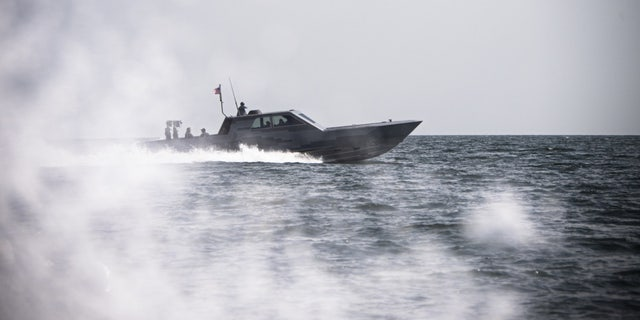 U.S. Navy Special Warfare Combatant-Craft Crewman from Naval Special Warfare conducts a patrol June 20, 2019 on the Black Sea in coordination with Trojan Footprint 2019.