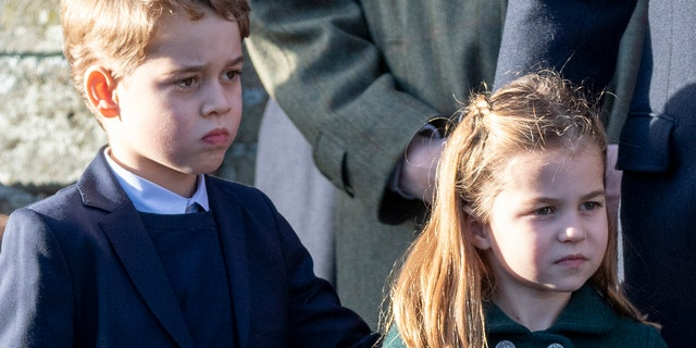 Prince George and Princess Charlotte in December 2019. (Photo by UK Press Pool/UK Press via Getty Images)