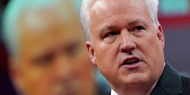 Matt Schlapp, chairman of the American Conservative Union, speaks at the Conservative Political Action Conference (CPAC) at National Harbor in Oxon Hill, Md., Feb. 28, 2019. (REUTERS/Kevin Lamarque)