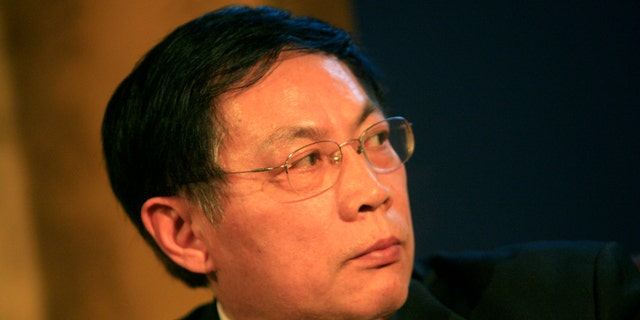 CHINA - DECEMBER 12: Ren Zhiqiang, chairman of Beijing Huayuan Group, attends the Caijing Annual Conference 2009 in Beijing, China, on Friday, Dec. 12, 2008. The Caijing Annual Conference takes place from Dec. 12-13. (Photo by Nelson Ching/Bloomberg via Getty Images)
