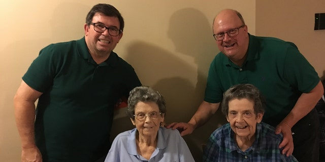 Lauretta Joyce (L) and Lenora Joyce (R) with their nephew Raymond Bodine (R), who spoke with Fox News and his cousin Richard Joyce (L). (Courtesy/Raymond Bodine)
