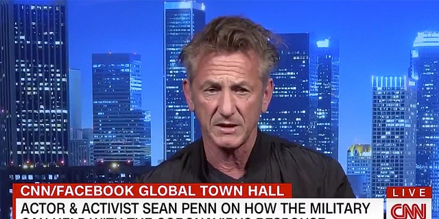 Sean Penn praised the United States military and declared they're needed to help with coronavirus response.