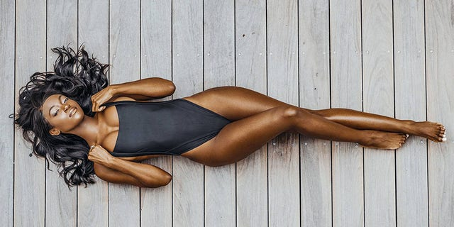 Tanaye White is one of the finalists for Sports Illustrated Swimsuit's Swim Search.