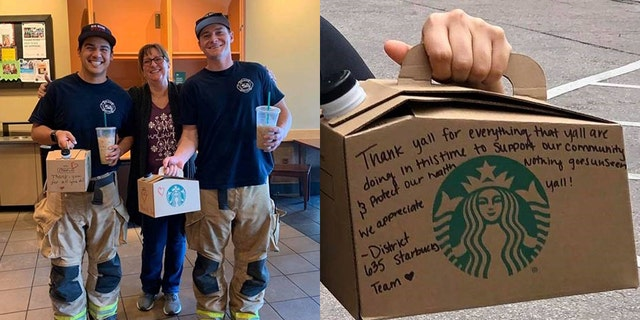 Starbucks giving free coffee to first responders during coronavirus pandemic