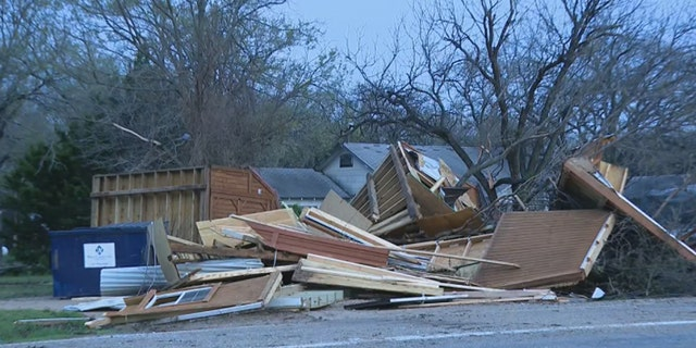 Damage was reported from a tornado on Wednesday night in Wise County, Texas.