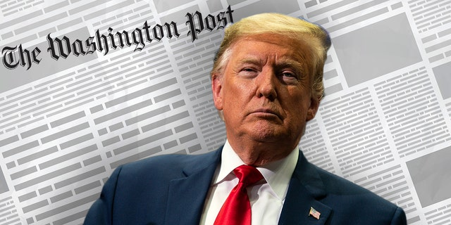 """PThe Trump campaign filed a libel lawsuit against The Washington Post for """"millions of dollars"""" over """"false and defamatory statements"""" about an alleged conspiracy with Russia.(AP Photo/Evan Vucci)"""