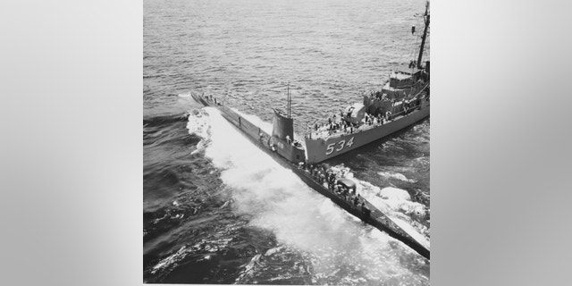 The collision between the USS Stickleback and the USS Silverstein.