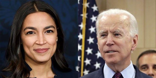 U.S. Rep. Alexandria Ocasio-Cortez did not initially support Joe Biden for president but has since endorsed her fellow Democrat.