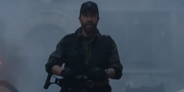 Chuck Norris told one of his own jokes during a cameo in 'Expendables 2.'