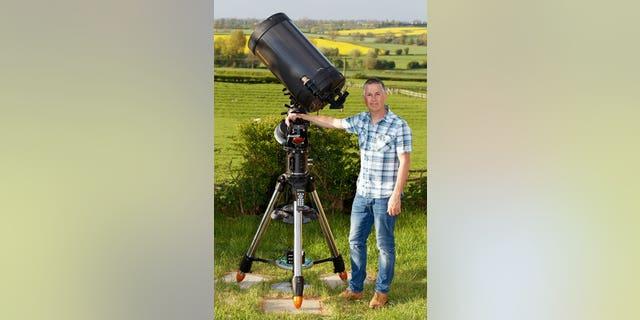 Astronomer Jamie Cooper. (Credit: SWNS)