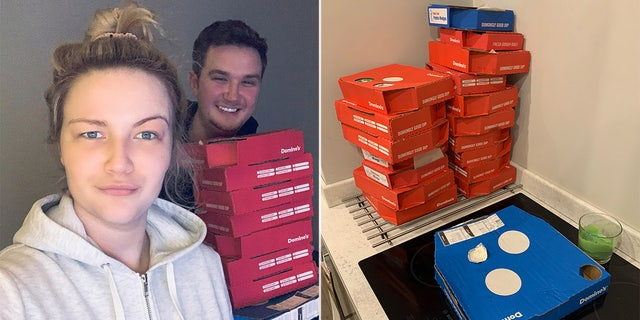 """""""He told me there [were] at least 15 boxes of sides and I started panicking, thinking, 'I hope he's paid,' because I only had [$25] cash on me,"""" Hannah Eddon said, according to The Sun. """"I had to get the delivery guy to help me bring it all into the kitchen. There was so much of it, I was so embarrassed."""""""