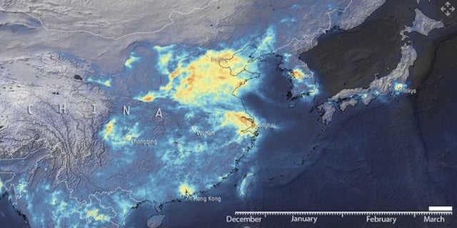 A view from space of how emissions are changing in response to coronavirus. A view from space of how emissions are changing in response to coronavirus.