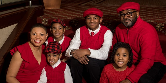 The Brundidge family: Shawn, 54; Sheletta, 48; Andrew, 13; Brandon, 7; Cameron, 6; and Daniel, 5.