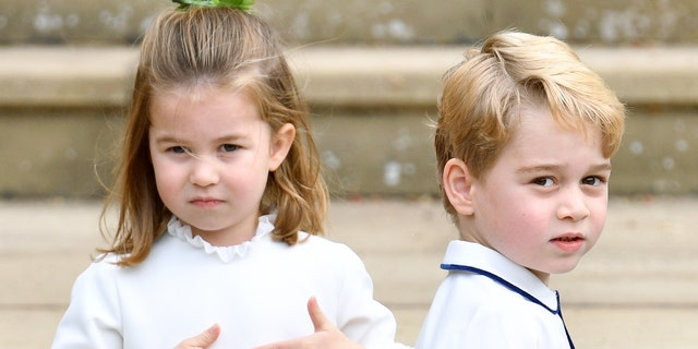 Charlotte and George attend Thomas's Battersea school in London. (Photo by Pool/Max Mumby/Getty Images)