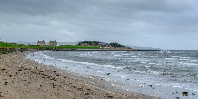 This is Prestwick Beach, where Annie Borjesson was found dead in Dec. 4, 2005.