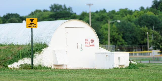 If you can't get to a safe room during a tornado, officials recommend going to the lowest level of a structure, such as a basement.
