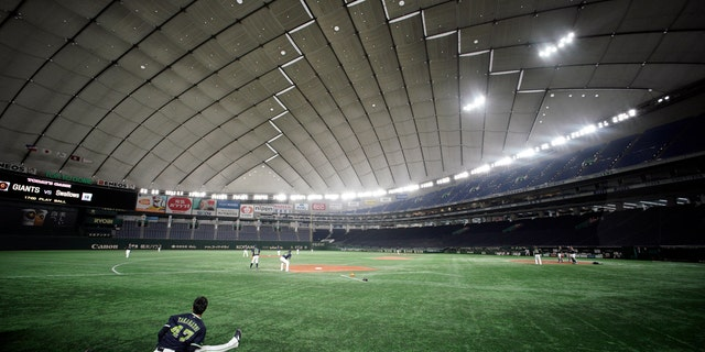 Japan's professional baseball league said Thursday it will play its 72 remaining preseason games in empty stadiums because of the threat of the spreading coronavirus.