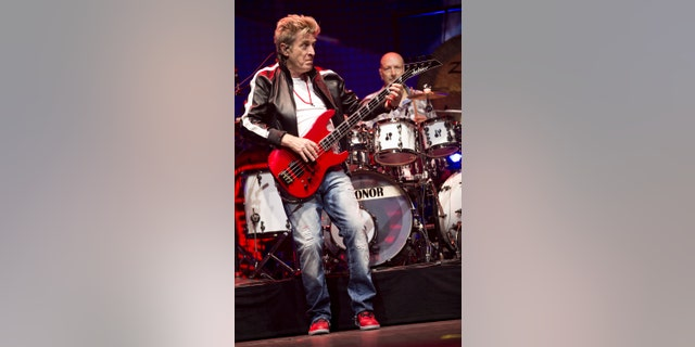 Bassist Ross Valory and drummer Steve Smith of the band Journey are seen at Prudential Center on June 15, 2018.