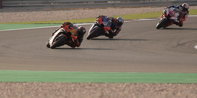 MotoGP teams were testing at the Qatar track in February<br> 