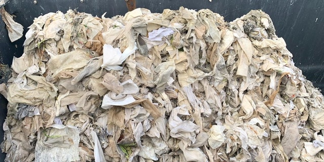 The Napa Sanitation District said Monday that a large mound of wet wipes had to be cleaned from a single screen at the district's pump station.聽