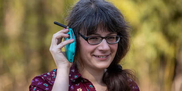 Space engineer Justine Haupt, 34, built a rotary dial mobile phone due to her dislike of the hyper connectivity associated with smartphones.
