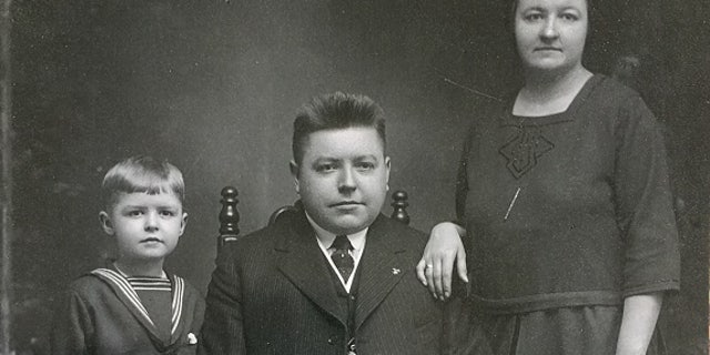 Edward Palkot with his mother Mamie and father John.