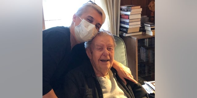 Edward Palkot with caregiver, Tina